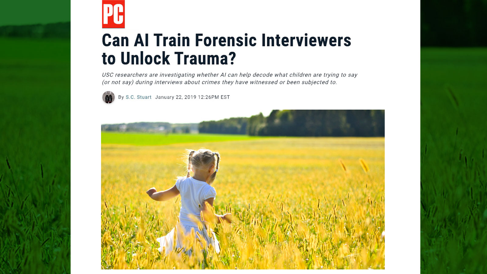 Can AI train forensic interviewers to unlock trauma?