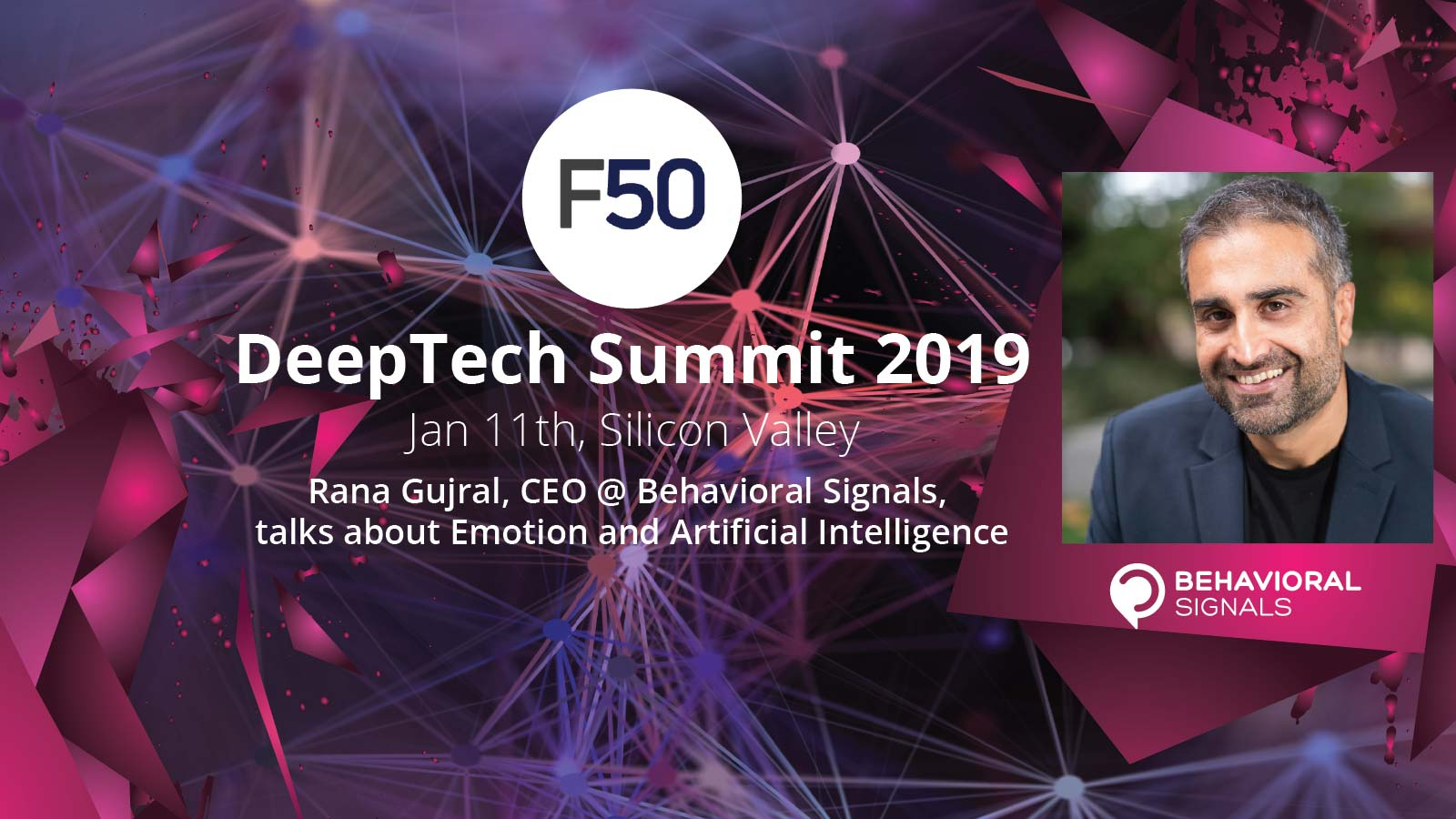 Rana Gujral speaking at DeepTech