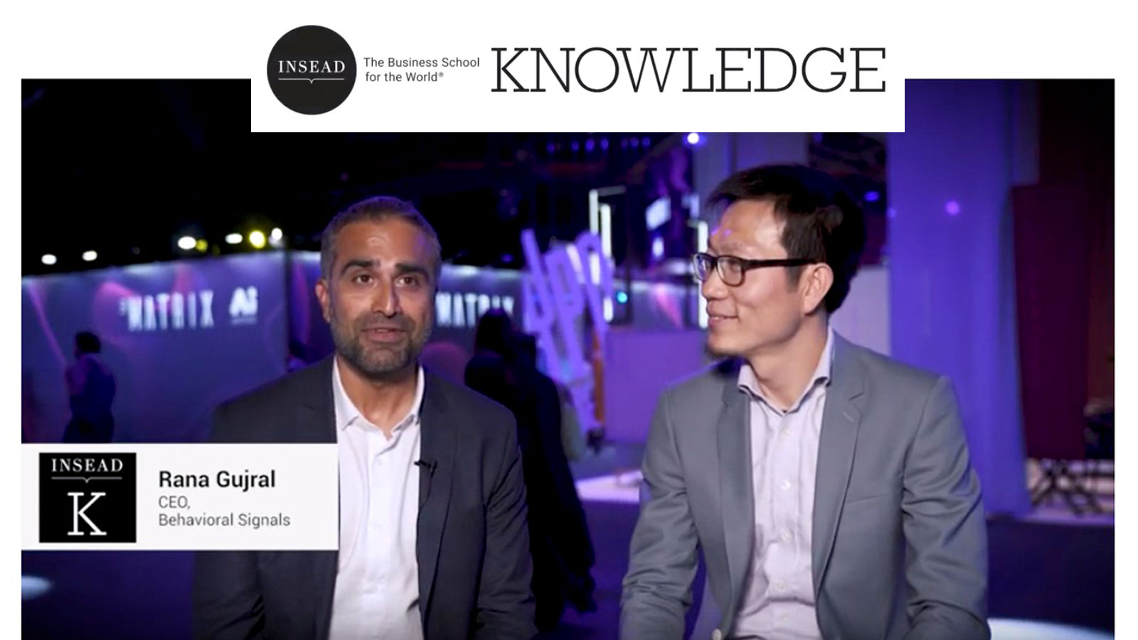 Behavioral Signals Rana Gujral interview at Digital INSEAD