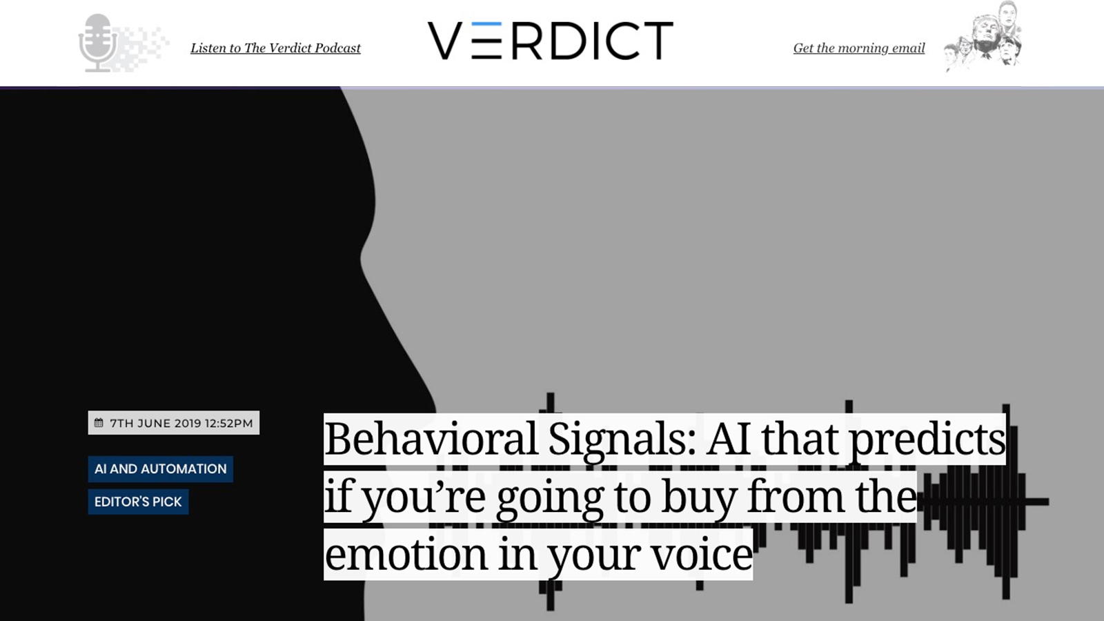 Behavioral Signals: AI that predicts if you're going to buy from the emotion in your voice