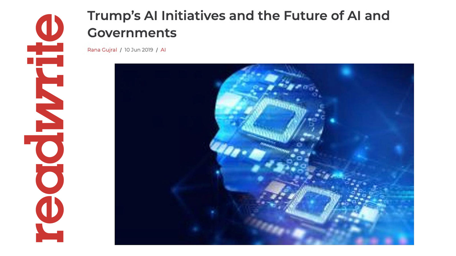 Trump's AI Initiatives and the Future of AI and Governments - Behavioral Signals on readwrite