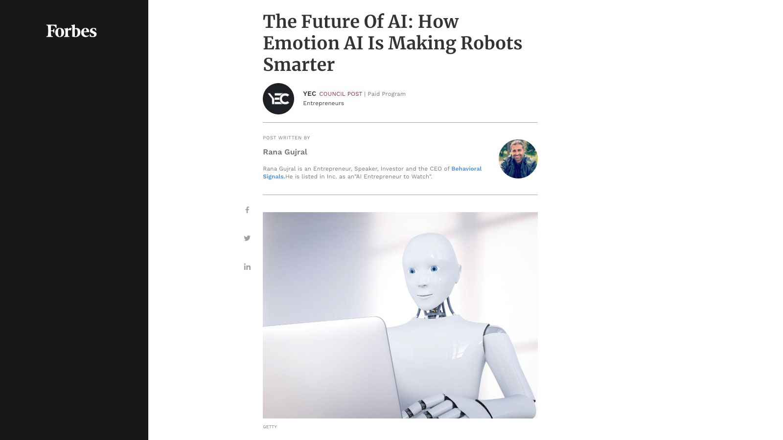 The Future Of AI: How Emotion AI Is Making Robots Smarter