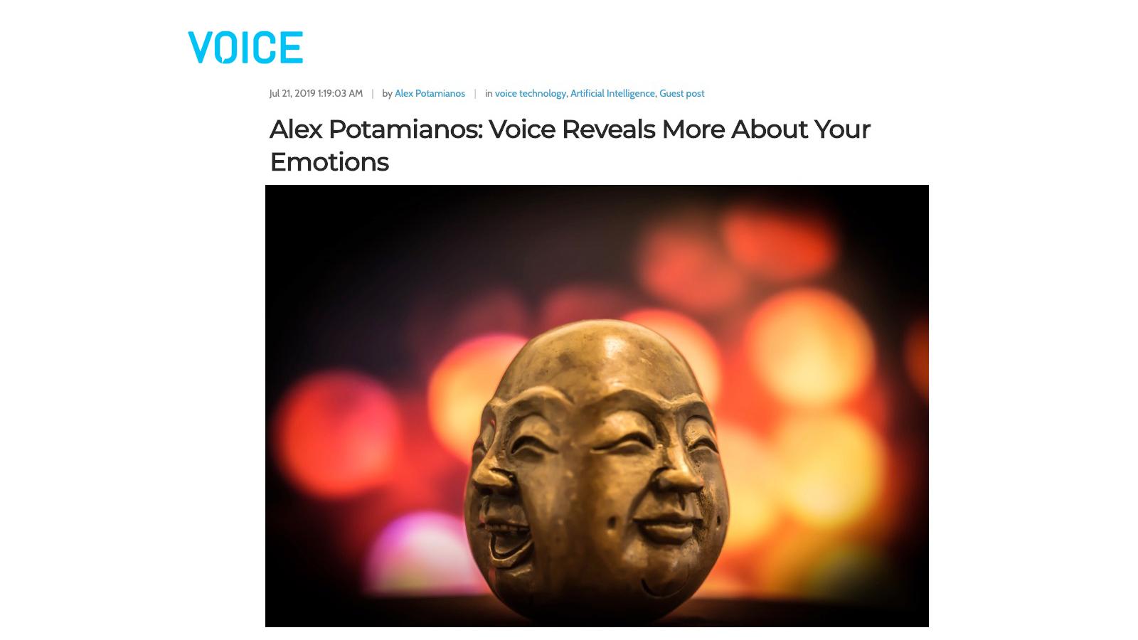 Alex Potamianos: Voice Reveals More About Your Emotions