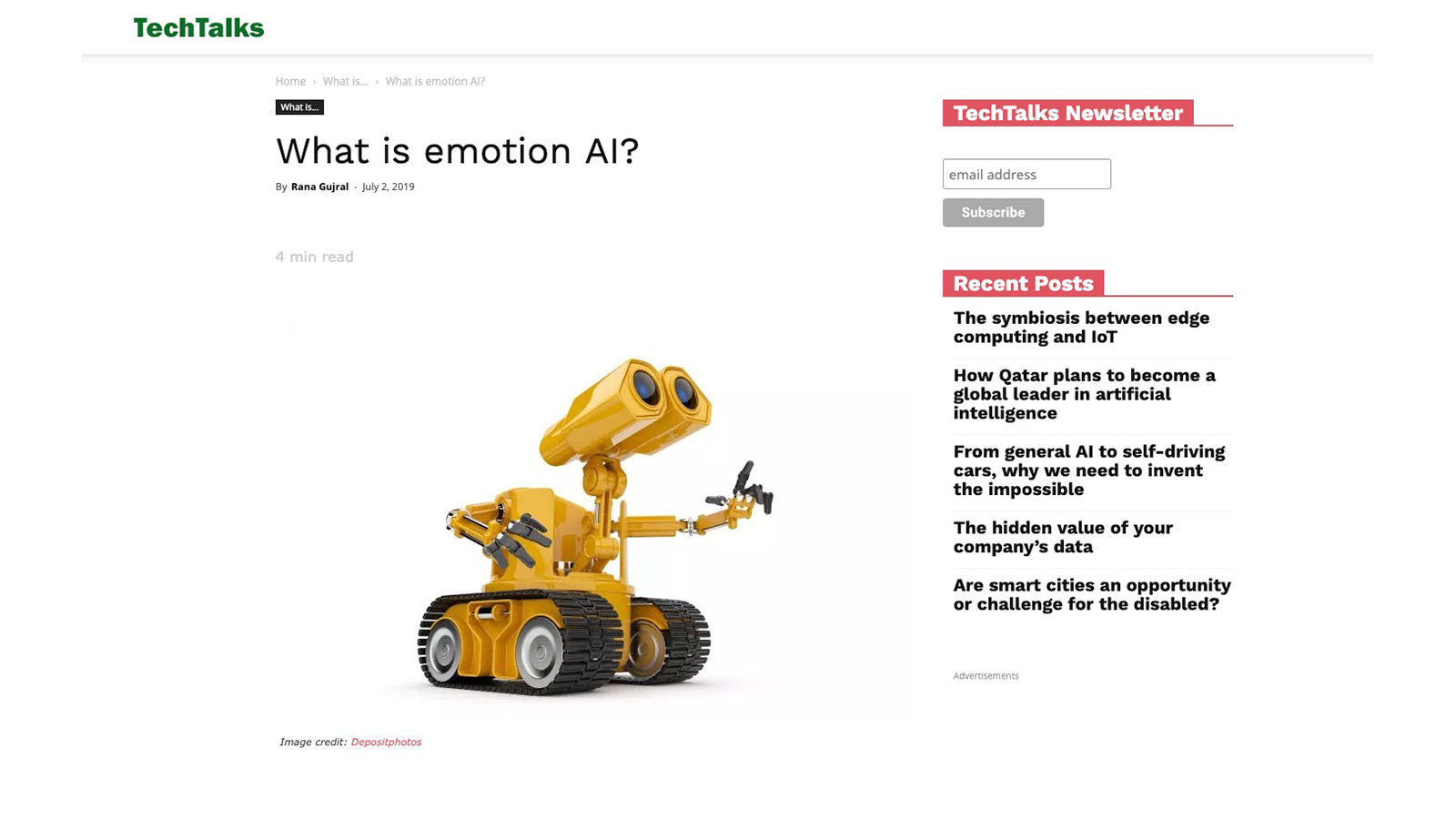 What is Emotion AI on TechTalks